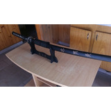 Espada Katana Color Negra Con Soporte