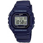Relógio Casio Masculino Digital W-218h-2avdf Azul Escuro