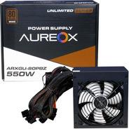 Fuente Pc Gamer Aureox Arxgu 550w Certificada 80 Plus Bronze