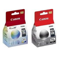 Kit 2 Cartuchos Canon Pg210 Cl211 Para Mp240 Mp250 Mp490