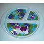 Prato Infantil Oval Com Repartições- Melamine-yangzi