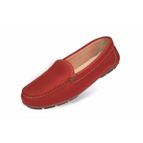 Zapato Mocasín Mega Para Damas 1681 Rojo