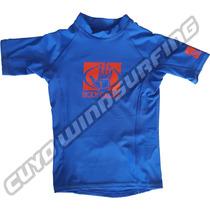 Remera Niño Uv Lycra Manga Corta Body Glove Lycra