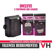 Receptor Silver Krom 2 Canales Incluye 1 Control Porton