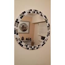 Espejo Con Venecitas Redondo 50cm Baño, Living, Dormitorio.