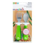 Conjunto Colher E Garfo Inox Infantil Munchkin ® Verde +12m