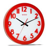 Reloj De Pared Grande Rojo  Rg-ro