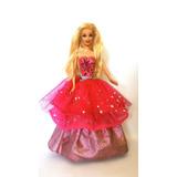 Boneca Barbie Moda E Magia Vestido Dois Em Um (com Defeito)