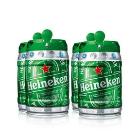 Kit Com 4 Barris De Chopp Heineken Com 5 Litros Cada
