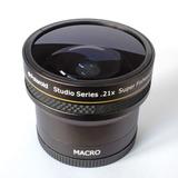 Ojo De Pez Polaroid 0.21x + Macro 52-55-58mm Canon - Nikon