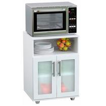 Mueble Mesa Auxiliar De Cocina Rack Microondas Acrilico