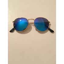 Anteojos Redondos Espejados Azules John Lennon Orbital