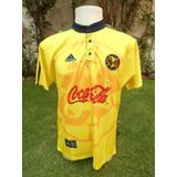 Jersey Club América Retro 1999 adidas Local Amarilla Aguilas