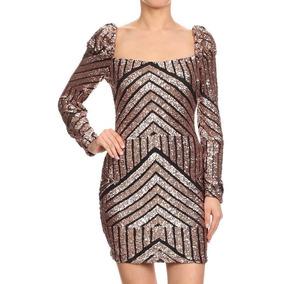 Sexy Vestido De Lentejuelas Inspirado En Gucci Prada Channel
