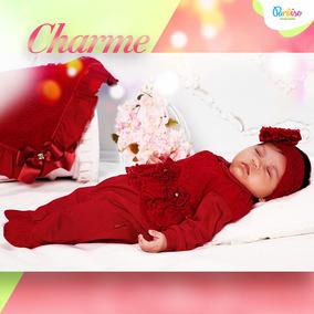 Kit Saida De Maternidade Paraiso Bebê Menina Renda Ref 6633