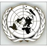 Emblema Badge De Boina Azul Da Onu Naçoes Unidas