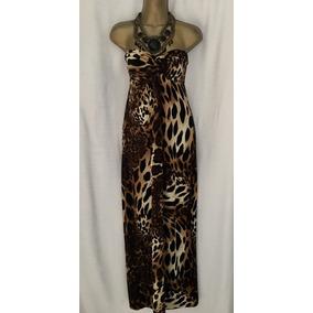 Vendo Divino Vestido Estampado Tigre Stretch