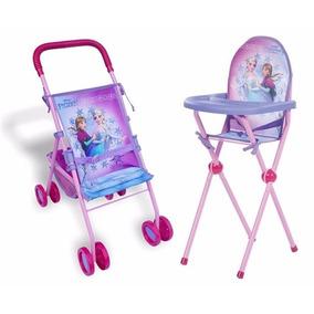 Kit Frozen Carrinho E Cadeira De Papinha Frozen Para Bonecas