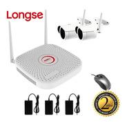 Kit Cctv Longse Wifi Xvr 2mp 2ch + 2 Cámaras De Seguridad