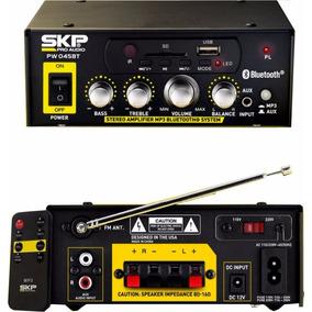 Amplificador Usb Mp3 Bluetooth Skp Radio Fm- 220 Y 12 V 45w