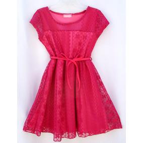 Vestido Niña Talla 4 A 5 Años Encaje Dream Girl