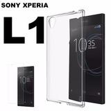 Película Vidro Blindada Celular Sony Xperia L1 + Capa Tpu