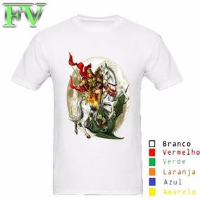 Camisa Personalizada Branca São Jorge Lua Tamanho A3 f9d49e312e70d