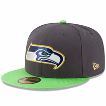 Gorra Seattle Seahawks New Era 59fifty 5950 Gold Collection