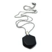 Collar De Acero Inoxidable Con Dije De Obsidiana