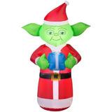 Inflable Navideño Iluminado De Star Wars Yoda