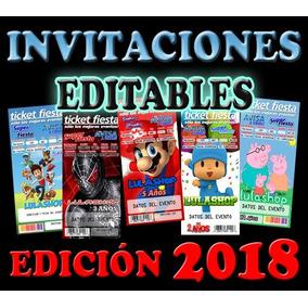 Kit Invitaciones 2018 Ticketmaster Plantillas Editables Psd
