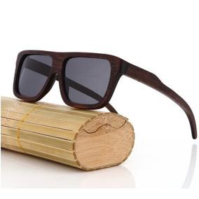 Óculos De Sol Inteiro De Madeira Bambu Bamboo + Brindes e8bfa740ed