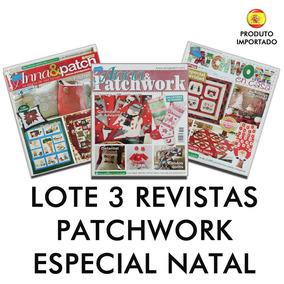 Lote Kit 3 Revista Patchwork Labores De Ana Natal Navidad