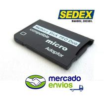 Memory Stick Pro Duo Adaptador Cartão Câmera Sony Sedex