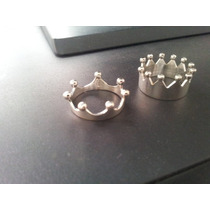 Par De Anillos Rey Y Reina Queen & King Corona Crown 0.925