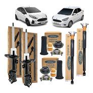 Kit 4 Amortecedor New Fiesta Novo Ka Completo Original Ford
