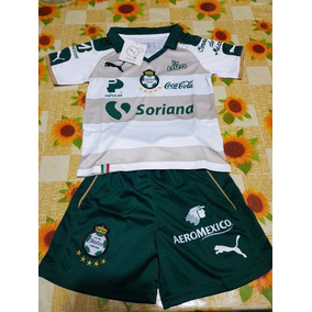 Uniforme Jersey Playera Santos Laguna Niño Tercer Kit 2017