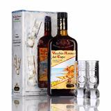 Aperitivo Amaro Italiano Del Capo Estuche+2 Vasos Envio Grat