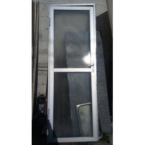 Porta Alumínio Com Vidros E Batente Med 74x2.10 Só Retirada
