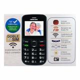 Teléfono Celular Adulto Mayor Tercera Edad Doble Sim + 2chip