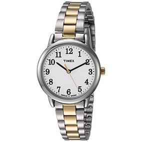 4ff76b669bfe Timex - Mujer Tw2r Easy Reader De Dos Tonos   Blanco Reloj