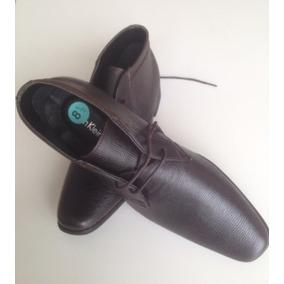 Zapatos Calvin Klein Shoes Media Bota Diseño Cuero Marrón