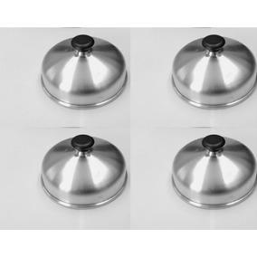 Abafador Hamburguer Kit 04 Unidades Alumínio Para Lanchonete