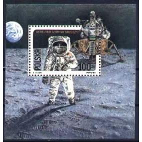 As055 Polonia - 20 Anos Do Homem Na Lua Cosmos Astronauta