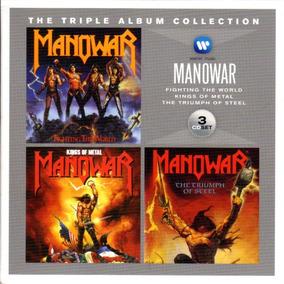 Manowar - Pack De 3 Cds Impecables / Importado De Usa