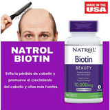 Biotin Natrol 10,000 Mcg 100 Tabletas - Versión Mejorada