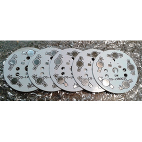 5 Bases De Aluminio Para 5 Leds De Alta Potencia 1w/3w/5w