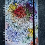 Cuaderno Anillado A5 Ramo Floral - 80 Hojas