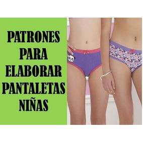 Patrones Imprimibles Pantaletas Cacheteros,panty, Niñas