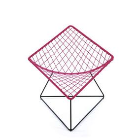 Silla Cometa Rosa Mexicano Con Estructura Metálica Negra